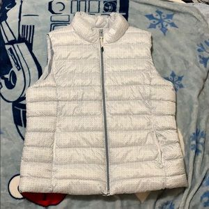 Gray vest , very soft and comfy .